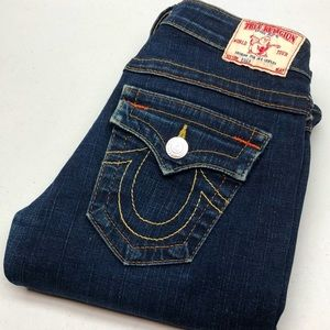 TRUE RELIGION BILLY JEANS MADE IN USA 25x34 🦋